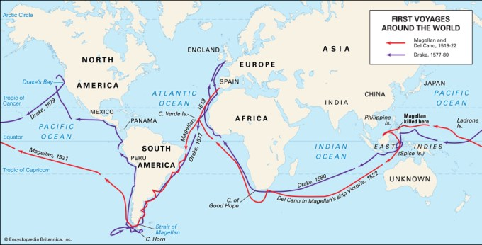 Ferdinand Magellan Route