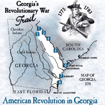 Map Of Georgia Colony.Georgia Colony Facts The History Junkie