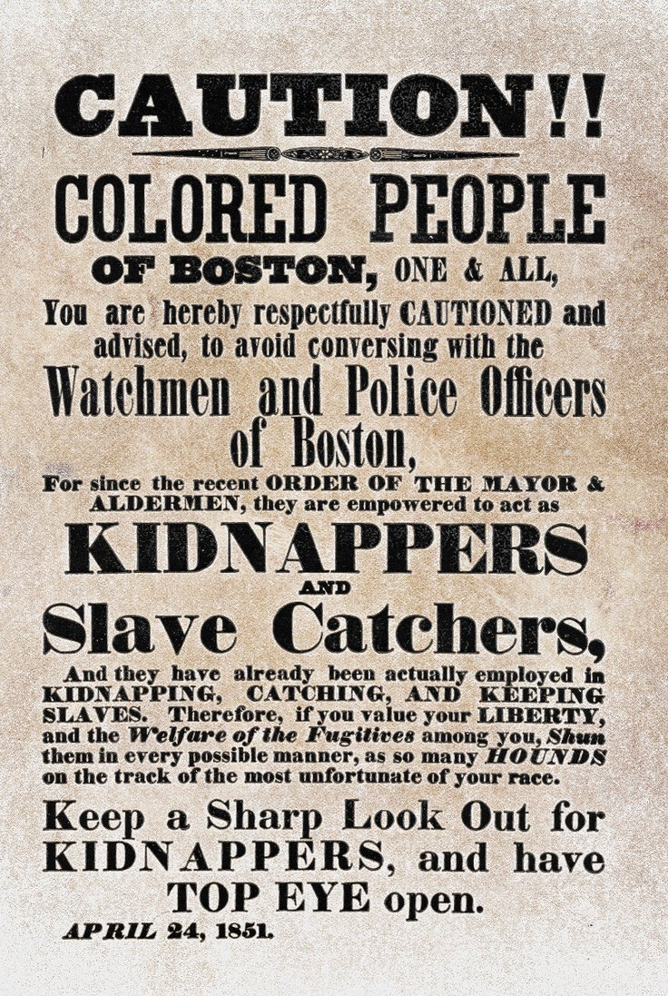 Fugitive Slave Act of 1850 - The History Junkie