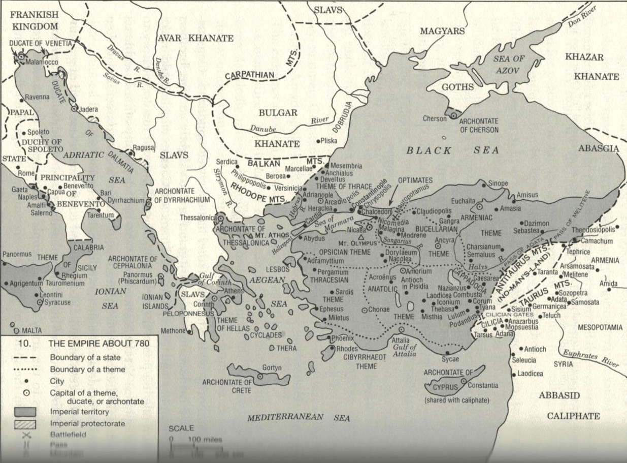 The Byzantine Empire In 780 From A History Of The