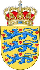 The coat of arms of Denmark - it stems from the House of Estrid, which ruled 1047-1412 (Sweyn Estridsson - Margaret I)