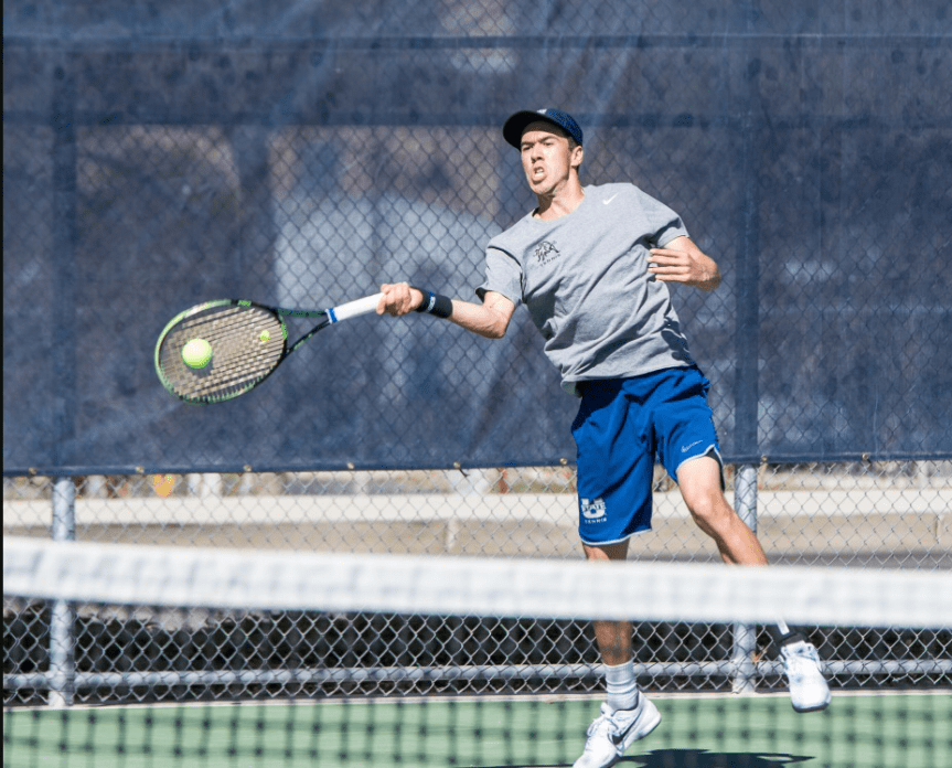 Nakajima wins in doubles but USU loses to Wildcats