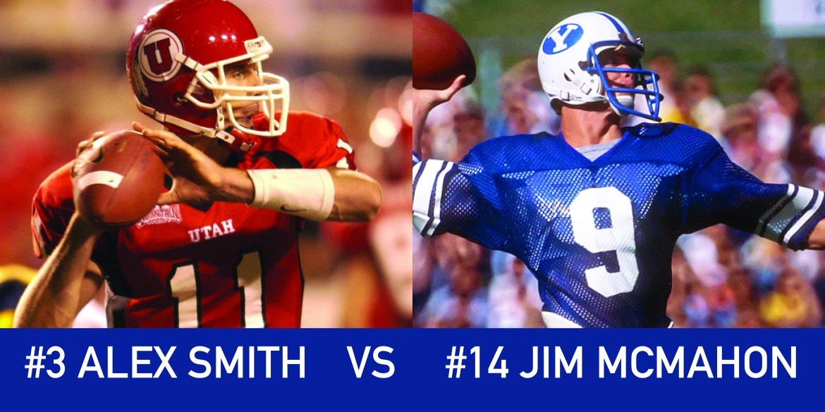 Utah March Madness: 3 Alex Smith vs 14 Jim McMahon