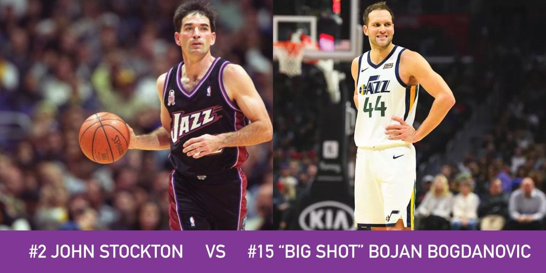 """Utah March Madness: 2 John Stockton vs 15 """"Big Shot"""" Bojan Bogdanovic"""