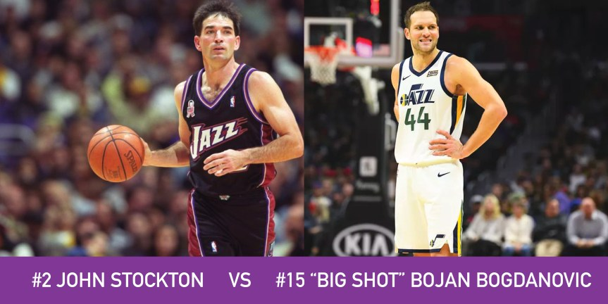 "Utah March Madness: 2 John Stockton vs 15 ""Big Shot"" Bojan Bogdanovic"