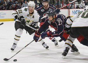 Jackets 3 Stars 7 (Neal C. Lauron - Columbus Dispatch)