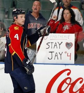 Bouwmeester departed Florida, despite fans' attempts to keep him