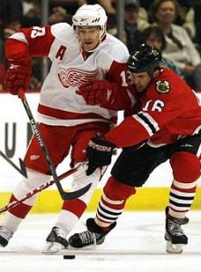 Pavel Datsyuk's blend of skill and physicality make him arguably the best player on the Detroit Red Wings. (Nam Y Huh/AP)