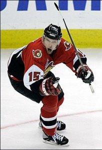 Ottawa Senators LW Dany Heatley
