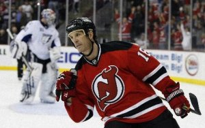 Brendan Shanahan in his last season with the 2009 New Jersey Devils.