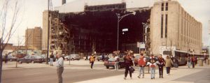 A hole blown in the side of Chicago Stadium after the Cup Finals loss. Just kidding. (Wikipedia Commons)