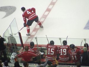 Jay Bo #4 Olympic red/white scrimmage (photo by thehockeyguy/flickr)