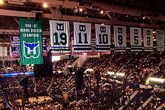 Whaler Banners Still Hang in the XL Center