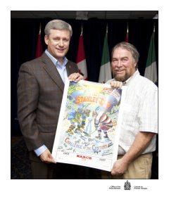 Pat Hogan with Prime Minister Stephen Harper