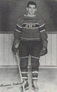 Maurice Richard early in his career.