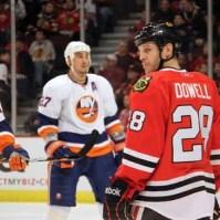 Jake Dowell (Blackhawks) 1/9/11 vs NYI