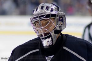 Jonathan Quick made 40 saves on 42 shots in Game 1 (BridgetDS/Flickr)
