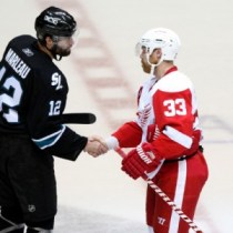 Sharks are coming to Hockeytown; can the  Red Wings make it 23? (Icon SMI)