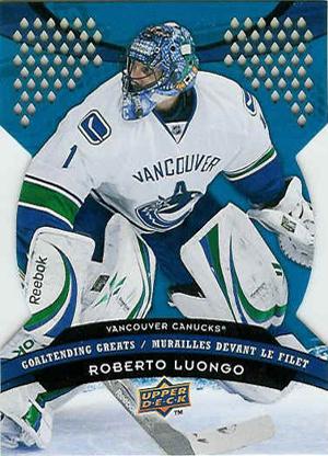 Roberto Luongo - Canuck captain hockey card
