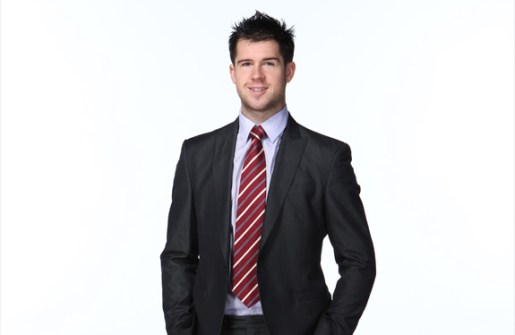 you can choose between Mike Green in a suit, his uniform or flexing in a tank top... (courtesy of the Washington Capitals)