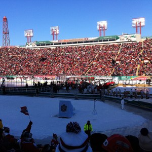 Over 42,000 fans packed Calgary's McMahon Stadium in frigid conditions for the 2011 Heritage Classic (Ray Wong/flickr)