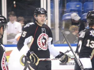 Eric Tangradi hopes to stay at the NHL level all season. (Sienna Slusser/THW)
