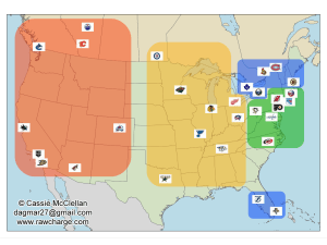 NHL realignment map