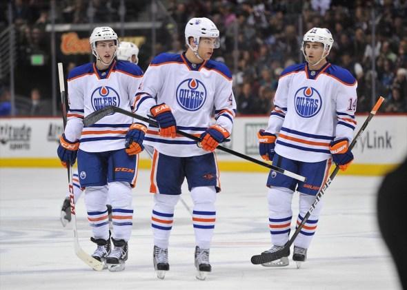 Taylor Hall, Ryan Nugent-Hopkins, Jordan Eberle, NHL, Milestones, Edmonton Oilers