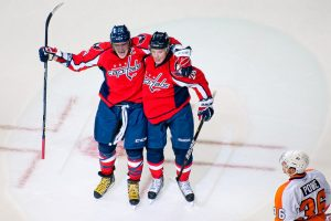 Semin and Ovehchkin celebrate after goal (Clydeorama.com)
