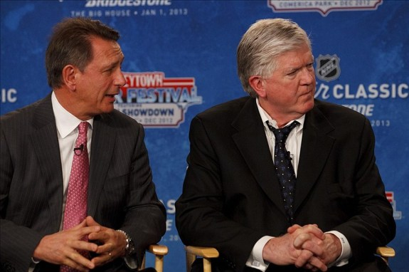 Ken Holland (left) has been an inspiration for many NHL General Managers (Rick Osentoski-US PRESSWIRE)