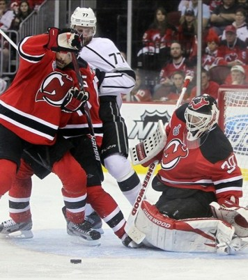 How many games will Brodeur play with Schneider now in New Jersey? (Ed Mulholland-US PRESSWIRE)