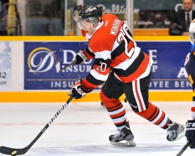 Top prospect Sean Monahan enters draft year red hot (Aaron Bell/CHL Images)