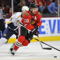 The Flyers simply gave up on Patrick Sharp. (Rob Grabowski-US PRESSWIRE)