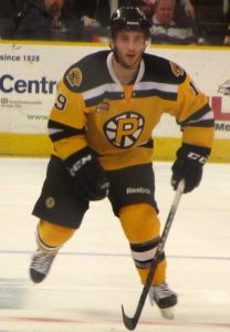 Carter Camper of the Providence Bruins