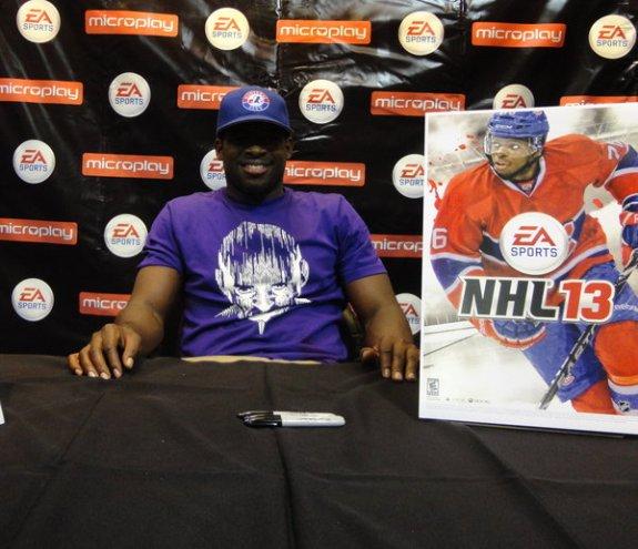 P.K. Subban EA Sports NHL 13 launch