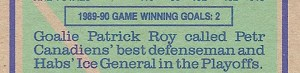 Patrick Roy's opinion of Petr Svoboda