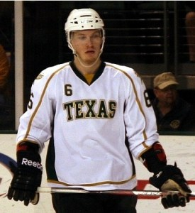 Jamie Oleksiak has the first chance to replace Patrik Nemeth. (Ross Bonander/THW)