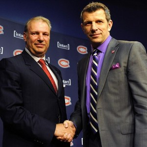 Montreal Canadiens head coach Michel Therrien and general manager Marc Bergevin