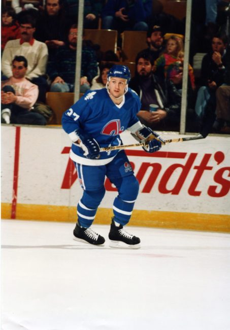 Shawn Anderson during the 1990-91 season with the Quebec Nordiques. (