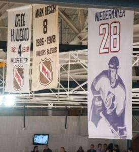 Niedermayer number retirement banner