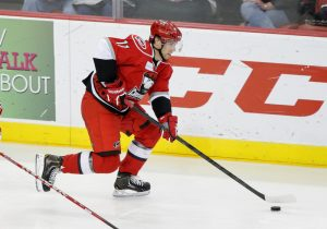 Zach Boychuk helped the Checkers snap an eight-game losing streak with three points. (Steven Christy/OKC Barons)