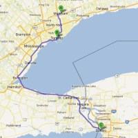 The GTA/Golden Horseshoe/Western New York area (Google Maps)