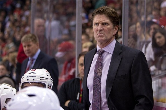 The polls have closed and we have voted Mike Babcock as the best coach in the NHL today. (Brace Hemmelgarn-USA TODAY Sports)