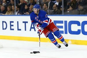 Blueshirts Blueliner John Moore (Debby Wong-USA TODAY Sports)
