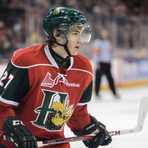 Drouin played three seasons with the Halifax Mooseheads in the QMHL. (David Chan)