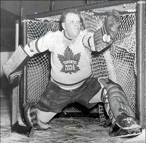 """Hockey Hall of Fame goaltender and 5 Time Stanley Cup Champion Walter """"Turk"""" Broda."""