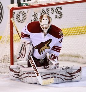 New Boston Bruins back up goaltender Chad Johnson. (Scott Rovak-USA TODAY Sports)