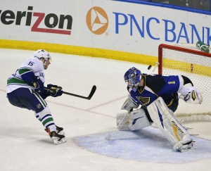 Brian Elliott bested Roy in a SO attempt on April 16 (Scott Rovak-USA TODAY Sports)