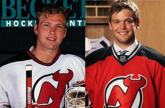 Martin Brodeur has been with New Jersey long enough to see his son Anthony Brodeur get drafted.(Courtesy Beckett Hockey/Bill Wippert)