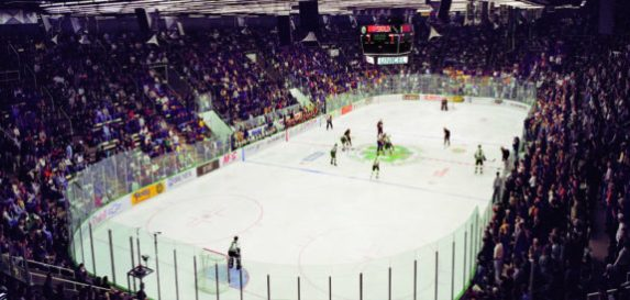 Inside the Old Engelstad Arena, UND Athletics